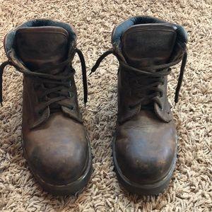 Dr Martens boots. Steel toe